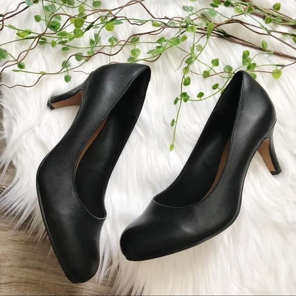 Clarks Arista Abe Leather Pump Heels